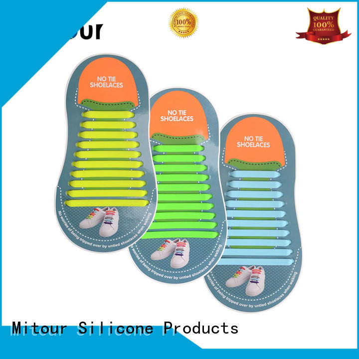 Mitour Silicone Products custom no tie shoelaces silicone lazy for shoes