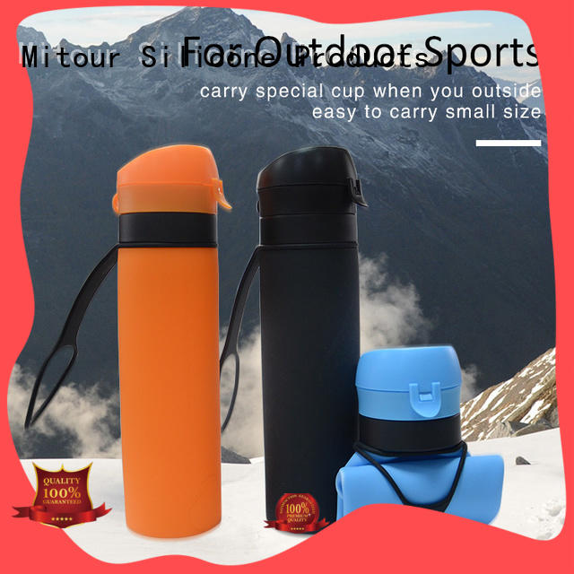 Mitour Silicone Products sports silicone folding water bottle for children