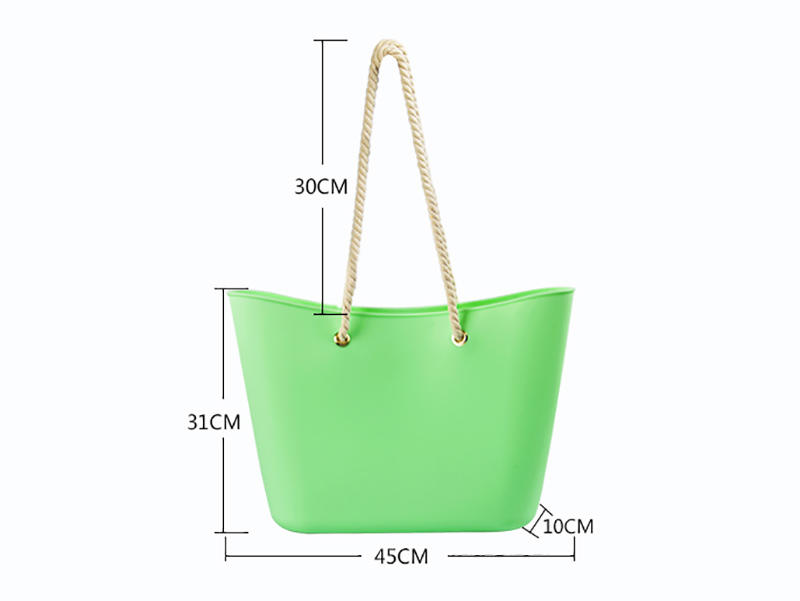 collapsible silicone vacuum bag custom tote for girls-2