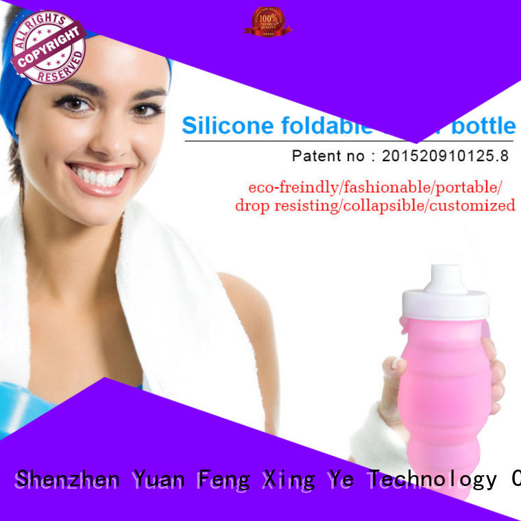foldable silicone sleeve bottle supplier for children