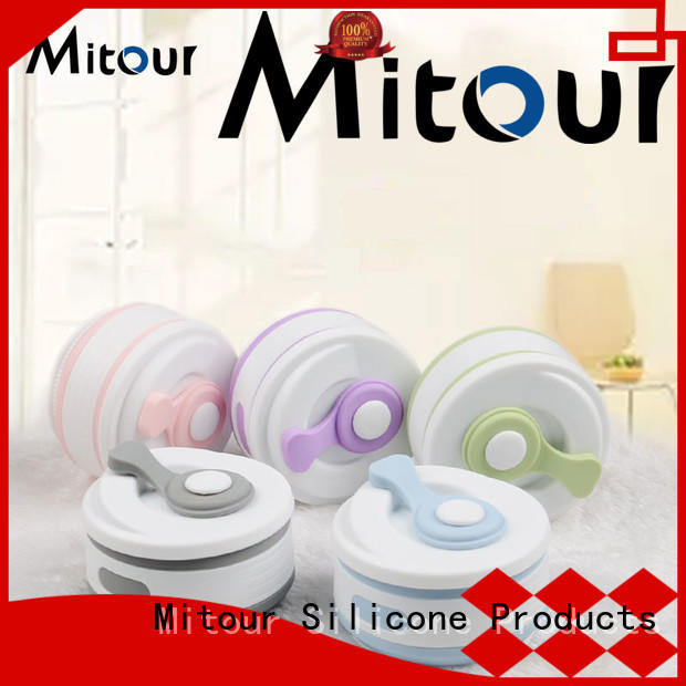Mitour Silicone Products universal silicone foldable water bottle for children