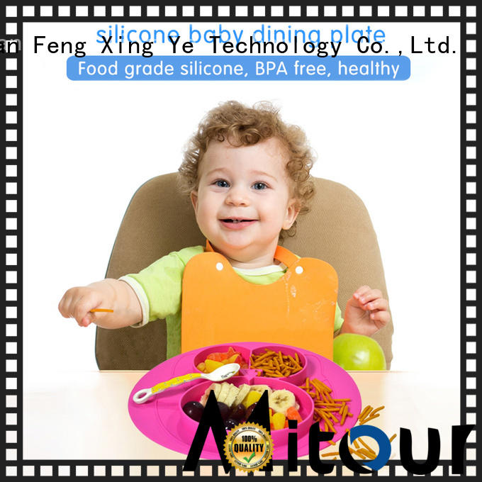 Mitour Silicone Products hot-sale silicone placemat for babies bulk production for children