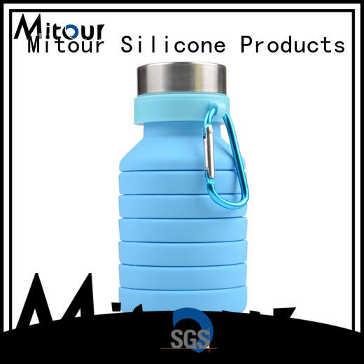 Mitour Silicone Products squeeze silicone collapsible bottle for water storage