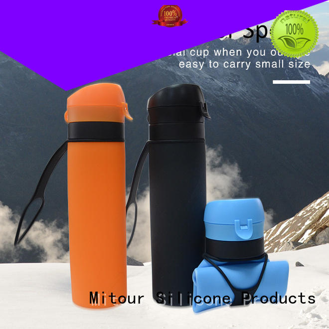 straight foldable silicone bottle for children