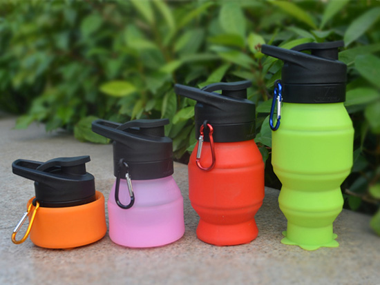portable silicone bottle cup for wholesale for water storage-14