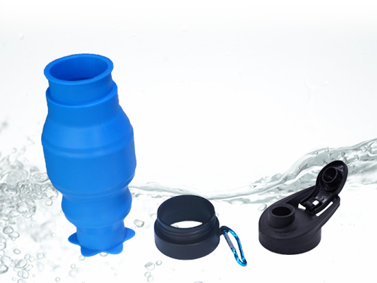 portable silicone bottle cup for wholesale for water storage-19