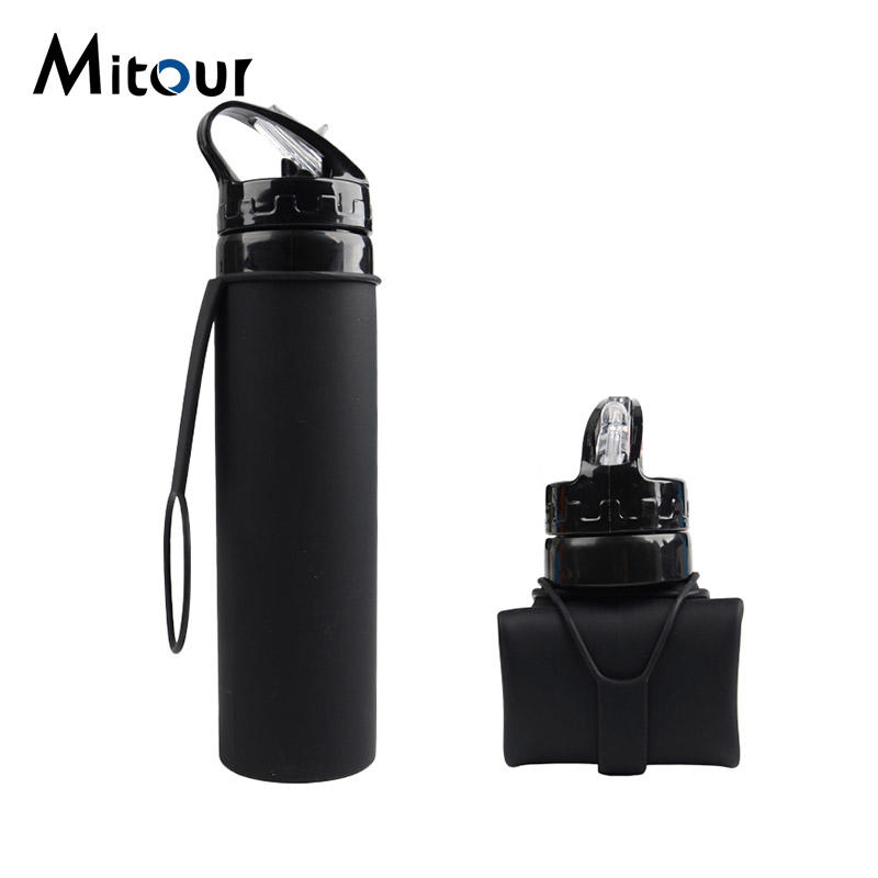 Mitour Silicone Products football silicone foldable water bottle supplier for children