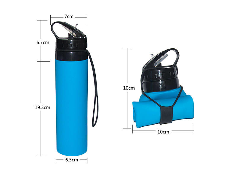 universal silicone collapsible bottle supplier for water storage