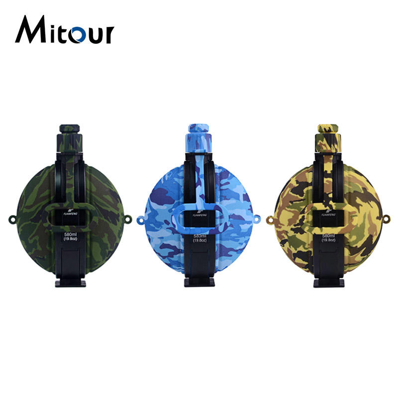 camouflage silicone water bottle