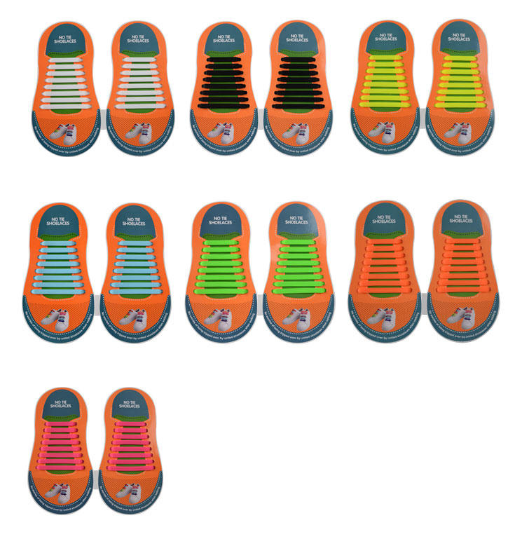 bulk no tie elastic silicone shoelace for child