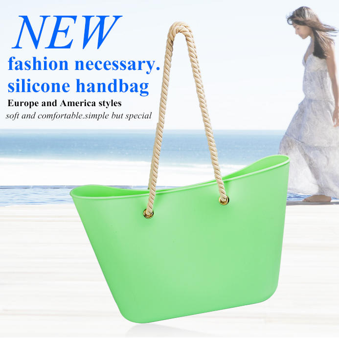 silicone handbag beach bag