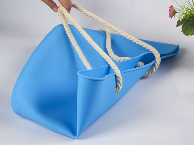 collapsible silicone vacuum bag custom tote for girls-13
