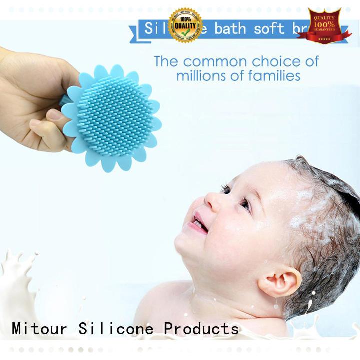 functional silicone brush bulk production for bath