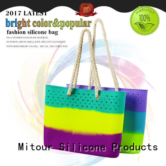 beach silicone beach tote custom for travel Mitour Silicone Products