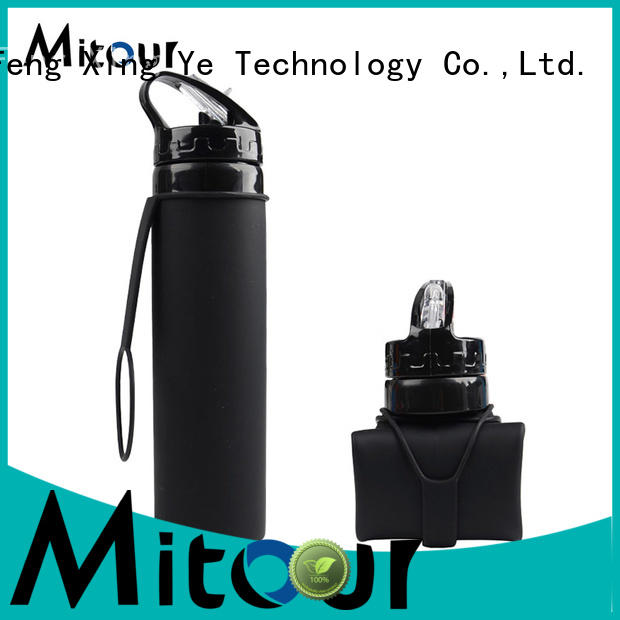Mitour Silicone Products camouflage silicone foldable bottle for water storage