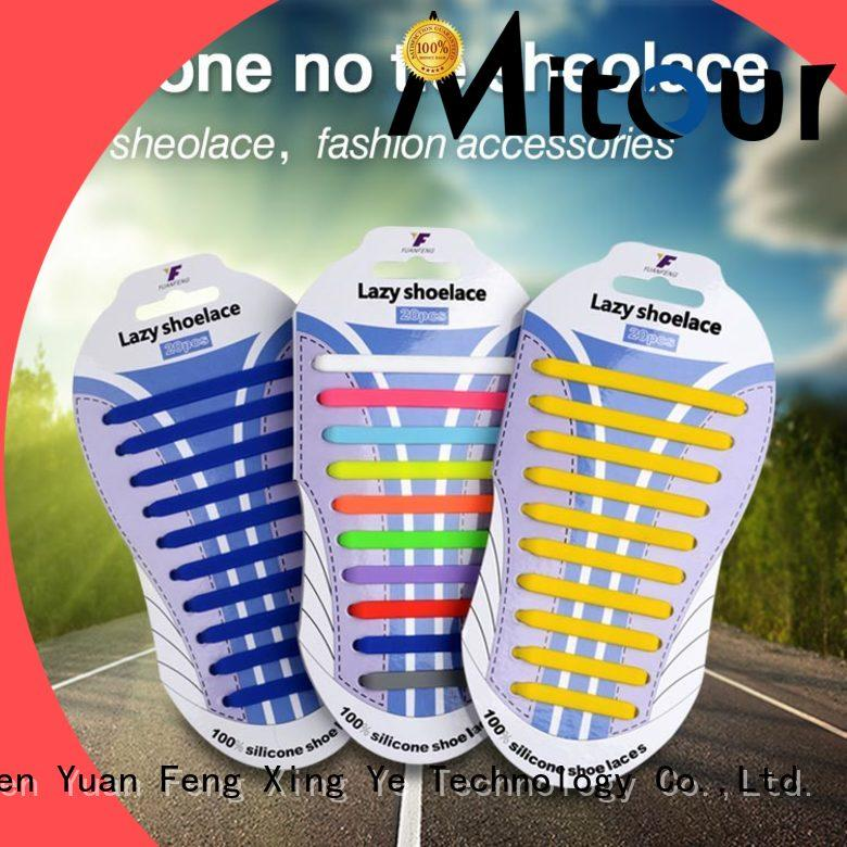 Mitour Silicone Products custom silicone shoelace for shoes