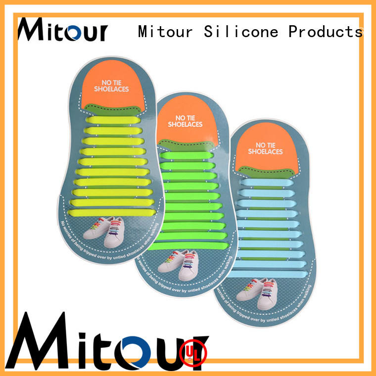 Mitour Silicone Products custom silicone no tie shoelaces shoelaces for boots