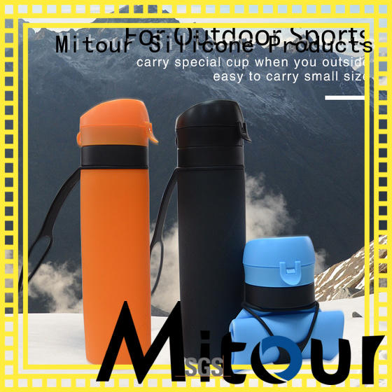 Mitour Silicone Products collapsible silicone bottle sleeve for wholesale for children