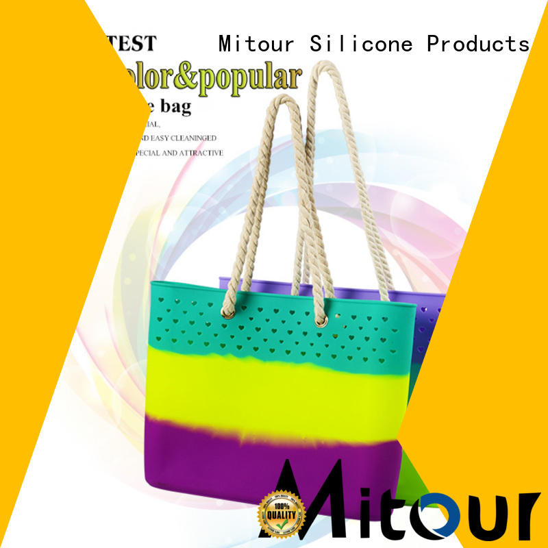 Mitour Silicone Products wholesale silicone hand bag handbag for school