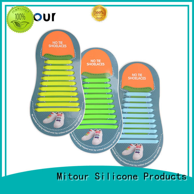 silicone shoelaces shoe laces silicone for child Mitour Silicone Products