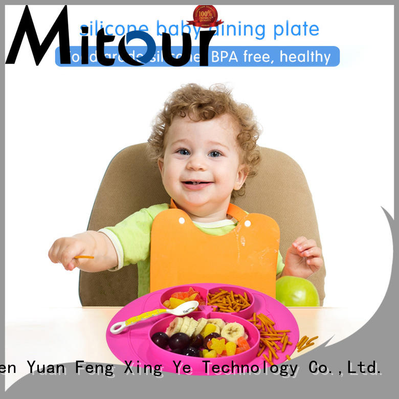 Mitour Silicone Products foldable silicone placemat for babies bulk production for baby