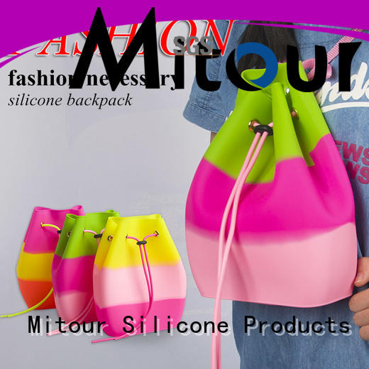 collapsible silicon beach bags bag for school Mitour Silicone Products