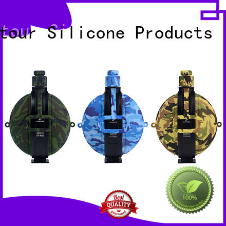 Mitour Silicone Products folding silicone water bottle safety bulk production for children