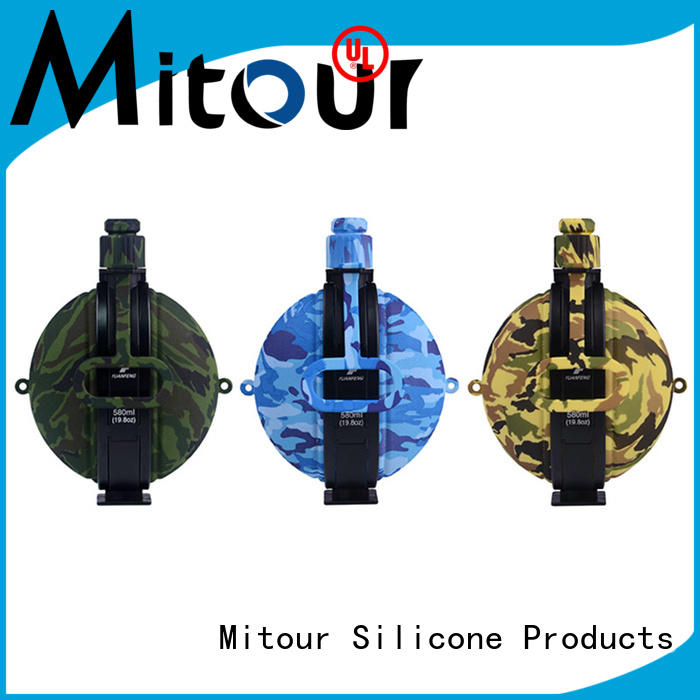 Mitour Silicone Products collapsible silicone foldable water bottle supplier for children