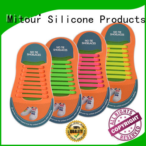 no tie elastic silicone shoelace for child Mitour Silicone Products