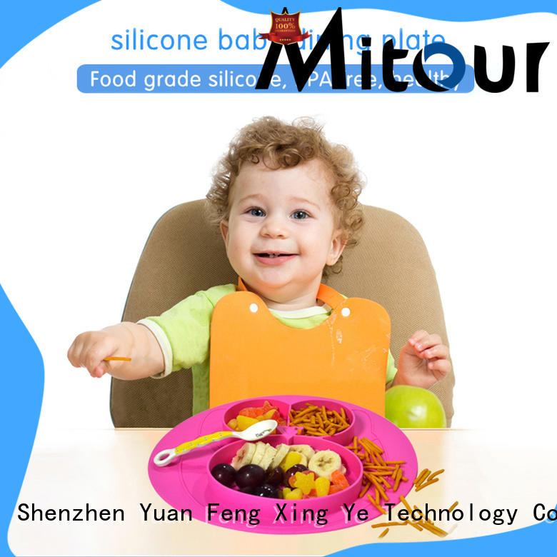 Mitour Silicone Products foldable silicone kids placemat for baby