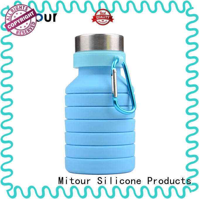 cup silicone collapsible bottle outdoor for water storage Mitour Silicone Products