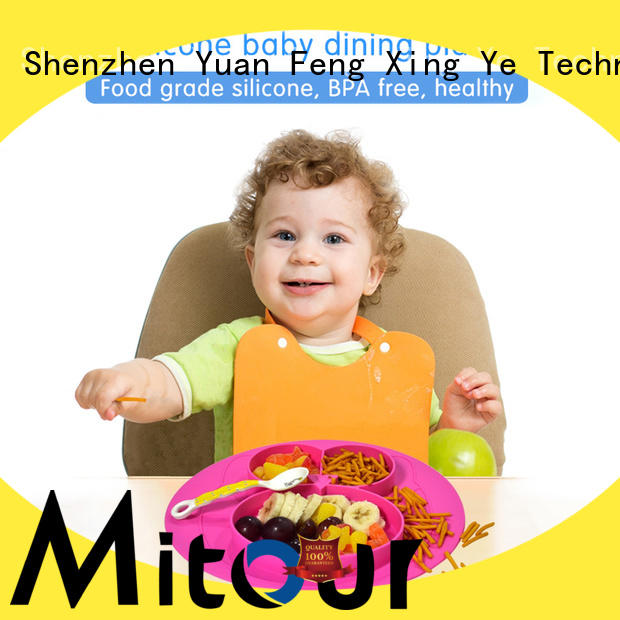 Mitour Silicone Products hot-sale baby plate silicone placemat for children