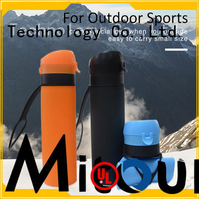 Mitour Silicone Products folding silicone water bottle safety camouflage for children