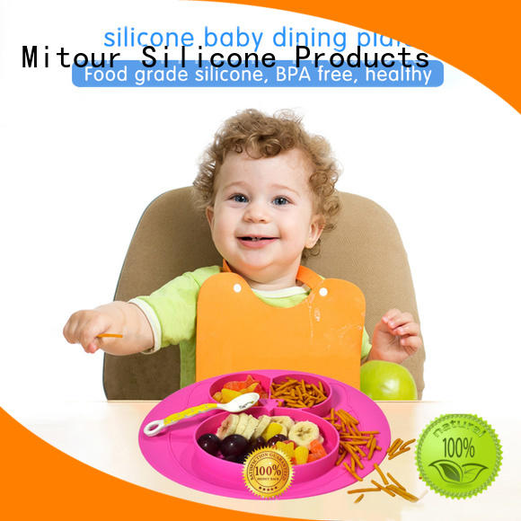 hot-sale silicone placemat plate bulk production for baby