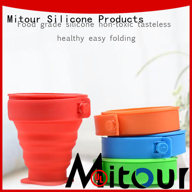 Mitour Silicone Products foldable silicone travel bottles bulk production for children