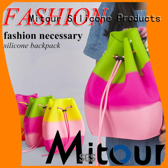 Mitour Silicone Products custom tote handbag backpack for girls
