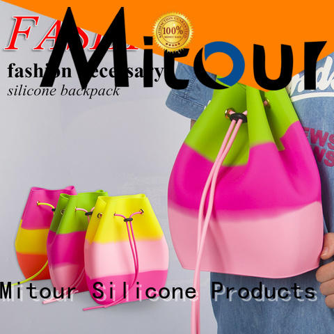 Mitour Silicone Products collapsible silicone hand bag custom for boys