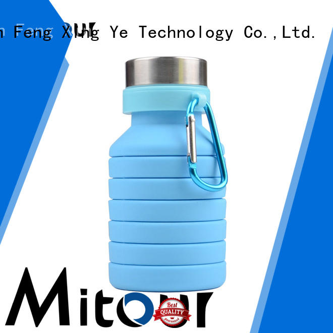 folding silicone water bottle for water storage