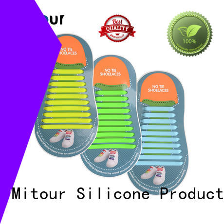 high-quality no tie elastic silicone shoelace shoelaces for boots Mitour Silicone Products