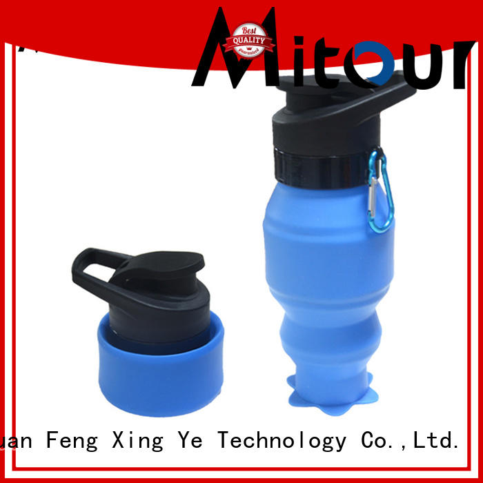 portable foldable silicone bottle supplier for children