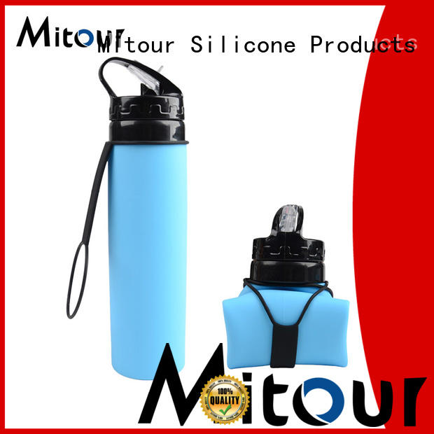 portable straight kettle collapsible camping kettle Mitour Silicone Products manufacture
