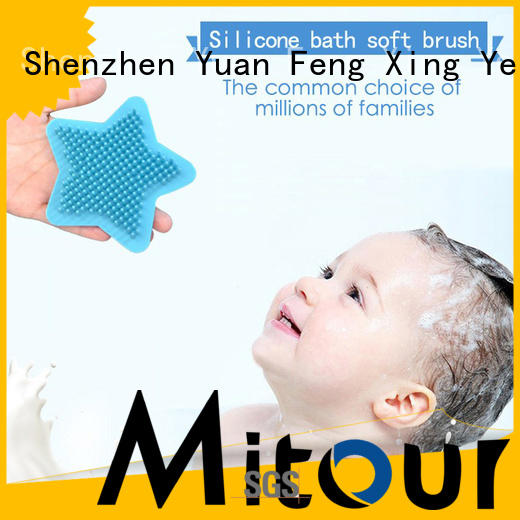 durable silicone bristle body brush factory for baby