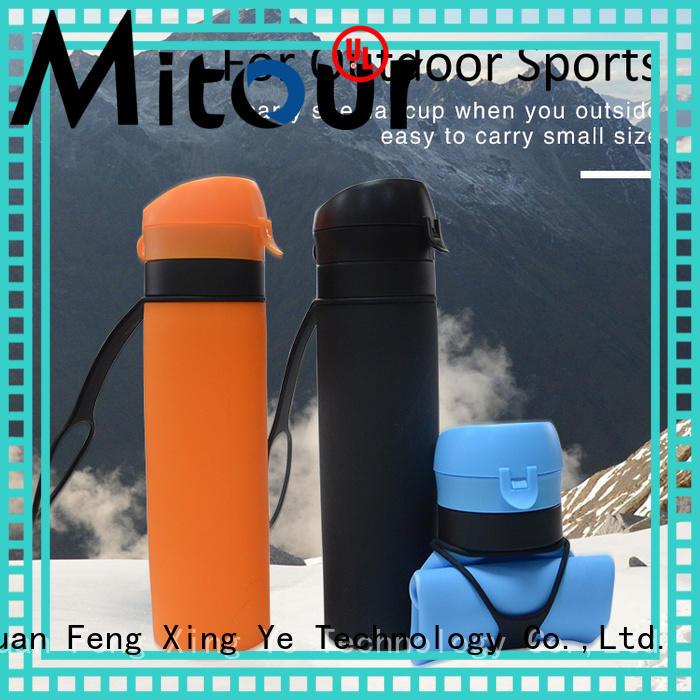 portable 500ml glass water bottle supplier for children
