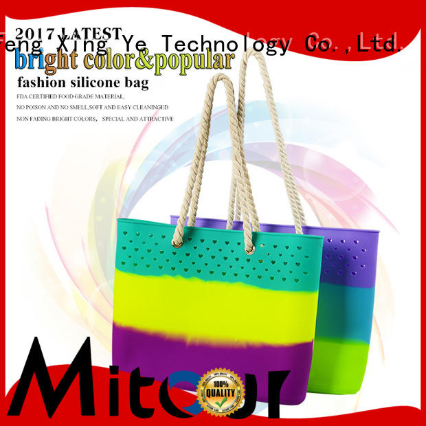 Mitour Silicone Products shoulder tote handbag tote for girls