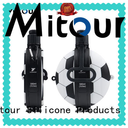 Mitour Silicone Products portable silicone foldable water bottle bulk production for water storage