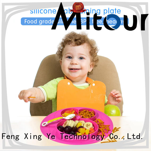 Mitour Silicone Products placemat baby plate silicone box for baby
