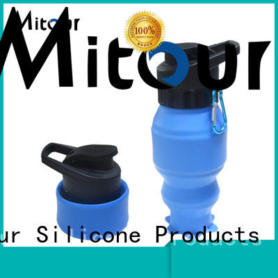Mitour Silicone Products straight silicone water bottle collapsible outdoor for water storage