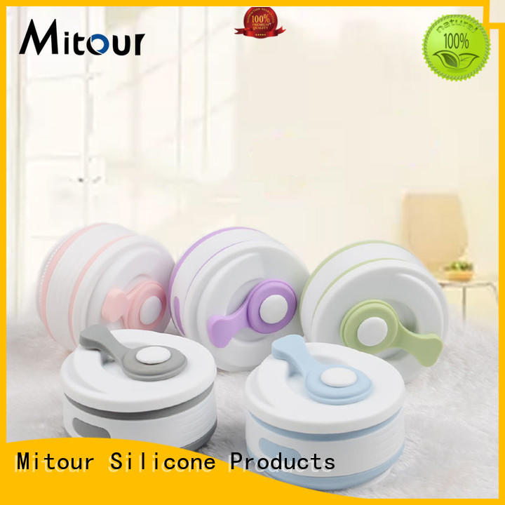Mitour Silicone Products universal collapsible silicone water bottle for water storage