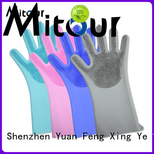 Latest black cooking gloves cleaning customization for kitchen