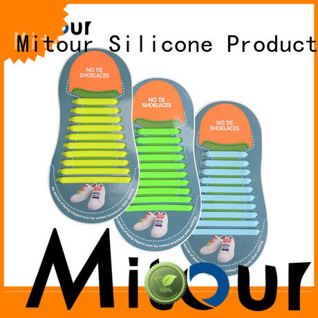 Mitour Silicone Products bulk no tie shoelaces silicone for shoes